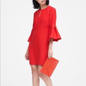 Banana Republic | Red Bell Sleeve Shift Dress NWT